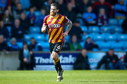 Bradford City midfielder Romain Vincelot (6) tries to run off a foul during the EFL Sky Bet League 1 match between Scunthorpe United and Bradford City at Glanford Park, Scunthorpe, England on 26 March 2017. Photo by Simon Davies.