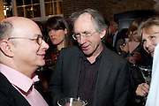 IAN MCEWAN, Santa Sebag Montefiore and Asprey's host a book launch for Jerusalem: the Biography by Simon Sebag Montefiore. Asprey. New Bond St. London. 26 January 2010. -DO NOT ARCHIVE-© Copyright Photograph by Dafydd Jones. 248 Clapham Rd. London SW9 0PZ. Tel 0207 820 0771. www.dafjones.com.