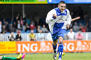 29-05-2016: Voetbal: Elinkwijk v De Zouaven: Utrecht<br /> <br /> Anass El Ghanoutti van Elinkwijk viert zijn openingstreffer <br /> <br /> Promotie degradatieduel, Seizoen 2015-2016<br /> <br /> De Zouaven verliest het duel met 3-0 en degradeerd hierdoor voor de tweede maal op rij naar de 2e klasse.<br /> <br /> Foto: Gertjan Kooij