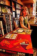 Deeds O'Sullivan,She said boom, record shop,372 College Street, Toronto, Ontario, Canada, .(model release)