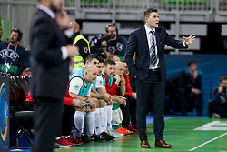 Blazej Korczynski, head coach of Poland during futsal match between Russia and Poland at Day 1 of UEFA Futsal EURO 2018, on January 30, 2018 in Arena Stozice, Ljubljana, Slovenia. Photo by Urban Urbanc / Sportida