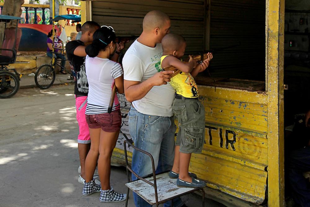 Pellet gun shooting range in Havana Centro, Cuba.