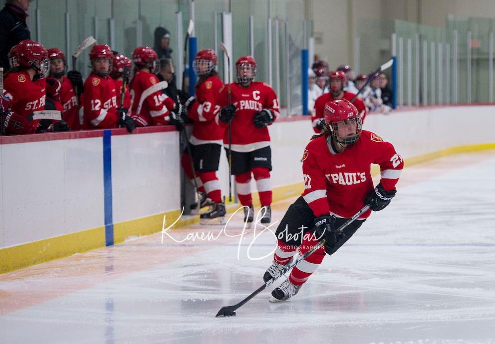 St. Paul's School girls varsity Hockey. ©2015 Karen Bobotas Photographer