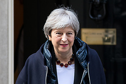 © Licensed to London News Pictures. 27/03/2018. London, UK. British Prime Minister Theresa May leaves 10 Downing Street to appear before Commons Liason Committee in Portcullis House. Photo credit : Tom Nicholson/LNP