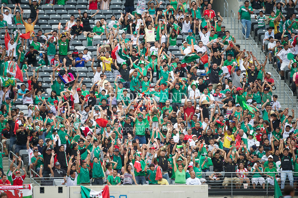 EAST RUTHERFORD, NEW JERSEY, USA - Sunday, May 27, 2012: Supporters during the Mexico versus Wales International Friendly at the MetLife Stadium. (Pic by David Rawcliffe/Propaganda)