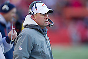 KANSAS CITY, MO - DECEMBER 5:   Head Coach Josh McDaniels of the Denver Broncos watches a play during a game against the Kansas City Chiefs on December 5, 2010 at Arrowhead Stadium in Kansas City, Missouri.  The Chiefs defeated the Broncos 10-6.  (Photo by Wesley Hitt/Getty Images) *** Local Caption *** Josh McDaniels