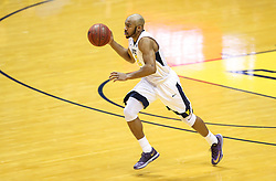 Dec 16, 2017; Morgantown, WV, USA; West Virginia Mountaineers guard Jevon Carter (2) dribbles the ball during the first half against the Wheeling Jesuit Cardinals at WVU Coliseum. Mandatory Credit: Ben Queen-USA TODAY Sports