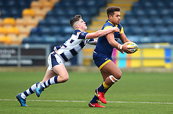 Ollie Lawrence (Bromsgrove School) of Worcester Warriors Under 18s runs with the ball - Mandatory by-line: Robbie Stephenson/JMP - 14/01/2018 - RUGBY - Sixways Stadium - Worcester, England - Worcester Warriors Under 18s v Yorkshire Carnegie Under 18s - Premiership Rugby U18 Academy