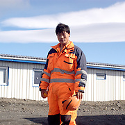 Over 5.000 workers from around the world were employed in the construction of the Karahnjukar dam in Iceland and a temporary camp was built for this community.