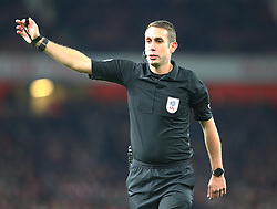 October 31, 2018 - London, England, United Kingdom - London, UK, 31 October, 2018.Referee David Coote.During Carabao Cup fourth Round between Arsenal and Blackpool at Emirates stadium , London, England on 31 Oct 2018. (Credit Image: © Action Foto Sport/NurPhoto via ZUMA Press)