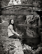 Teen girl's senior portrait along the canal in New Hope, Pennsylvania