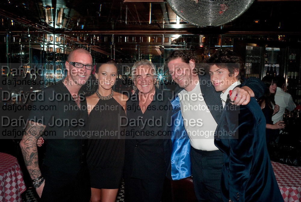 AGGI; BELLA WRIGHT; ; PETER STRINGFELLOW; MARCO PIERRE WHITE; LUCIANO PIERRE WHITE, , launch of Fabulous Haircare Range, Frankie's Italian Bar and Grill, 3 Yeomans Row, off Brompton Road, London SW3, 7pm