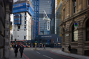 Construction in the capital where The Pinnacle project is on hold on Bishopsgate in the City of London. Construction work has been suspended again on the Pinnacle in the City of London. Contractor Brookfield is understood to have been told to stop work following more funding concerns over the Square Mile's tallest tower. Brookfield restarted work last September after developer Arab Investments put together a new finance package. But a lack of a pre-let tenant has now caused further delays on site leaving Byrne Bros concrete cores standing idle. The Bishopsgate Tower, informally referred to as The Pinnacle, was to be a 288 m (945 ft), 64-storey skyscraper in the centre of London's main financial district.