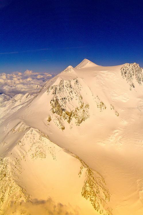 Aerial views of Mt. McKinley and the Alaska Range, Denali National Park, Alaska