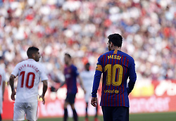 February 23, 2019 - Seville, Madrid, Spain - Lionel Messi (FC Barcelona) seen in action during the La Liga match between Sevilla FC and Futbol Club Barcelona at Estadio Sanchez Pizjuan in Seville, Spain. (Credit Image: © Manu Reino/SOPA Images via ZUMA Wire)