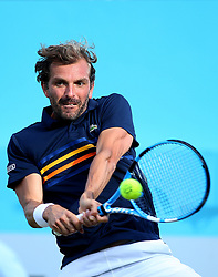 France's Julien Benneteau during day four of the Fever-Tree Championship at the Queen's Club, London.