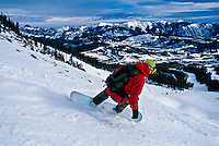 Snowboarding, Big Sky Resort, Montana USA