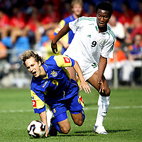 Fotball<br /> FIFA World Youth Championships 2005<br /> 22.06.2005<br /> Foto: ProShots/Digitalsport<br /> NORWAY ONLY<br /> <br /> doetinchem<br /> 1/8 finale<br /> <br /> nigeria - ukraina<br /> <br /> john obi mikel (9) en oleksander sytnyk