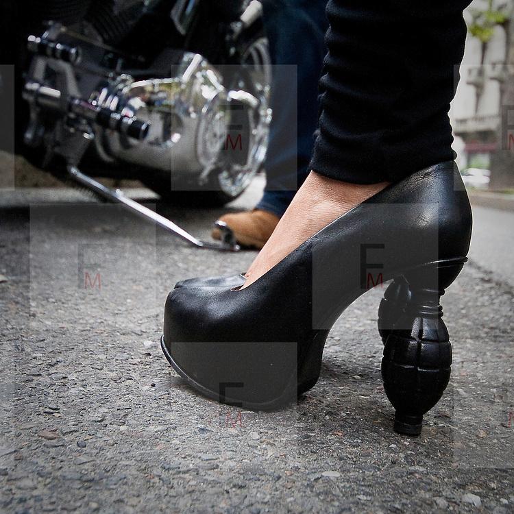 Le scarpe viste durante le settimana della moda<br /> <br /> The shoes see during the Milan fashion Week