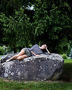 Lausanne, juillet 2018. Sarah Gysler, jeune auteure et voyageuse. auteure de Petite, éditions Equateur.  © Olivier Vogelsang