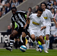 Photo: Jed Wee/Sportsbeat Images.<br /> Newcastle United v Juventus. Pre Season Friendly. 29/07/2007.<br /> <br /> Newcastle's Charles N'Zogbia (L) tussles with Juventus' Marco Marchionni.