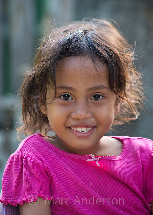 Portrait of a Timorese girl smiling, Dili, East Timor