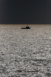MEDITERRANEAN SEA ARCTIC SUNRISE 2MAY08 - A Greek longline fishing boat seen from aboard the Greenpeace ship Arctic Sunrise in the Mediterranean ahead of the driftnet fishing campaign in the Ionian Sea...jre/Photo by Jiri Rezac..© Jiri Rezac 2008..Contact: +44 (0) 7050 110 417.Mobile:  +44 (0) 7801 337 683.Office:  +44 (0) 20 8968 9635..Email:   jiri@jirirezac.com.Web:    www.jirirezac.com..© All images Jiri Rezac 2008 - All rights reserved.