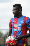 Jason Akiotu waits for the runs during the U21 Professional Development League match between Crystal Palace U21s and Huddersfield U21s at Imperial Fields, Tooting, United Kingdom on 7 September 2015. Photo by Michael Hulf.