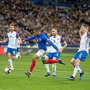 PARIS, FRANCE - March 25: Kylian Mbappé #10 of France scores his sides third goal during the France V Iceland, 2020 European Championship Qualifying, Group Stage at  Stade de France on March 25th 2019 in Paris, France (Photo by Tim Clayton/Corbis via Getty Images)