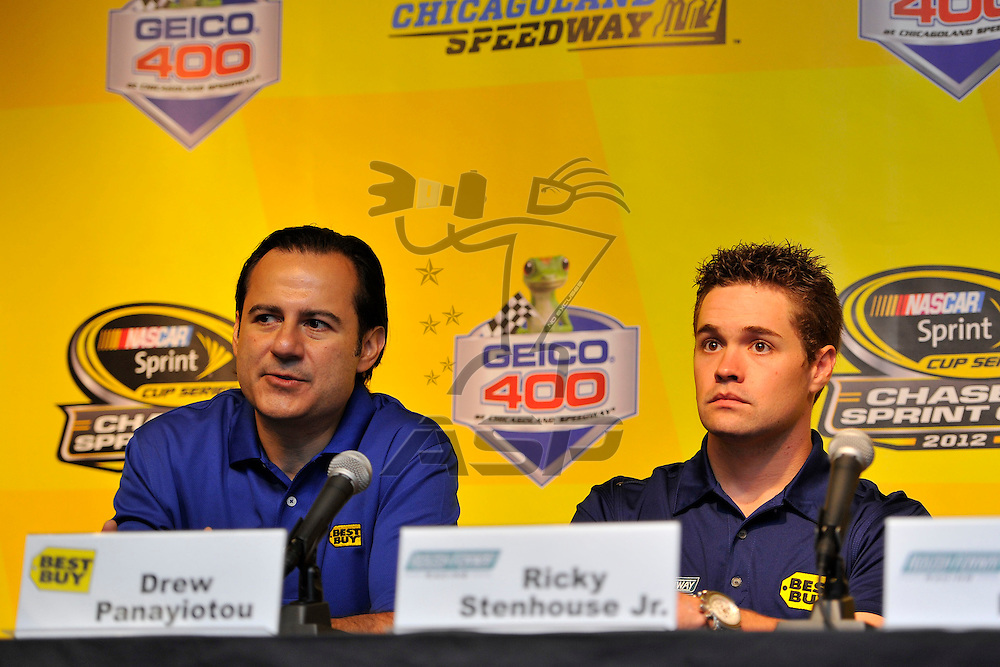 Joliet, IL - SEP 14, 2012:  during practice for the Geico 400 at the Chicagoland Speedway in Joliet, IL.