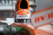 February 21, 2013 - Barcelona Spain. Adrian Sutil, Sahara Force India F1 Team  during pre-season testing from Circuit de Catalunya.
