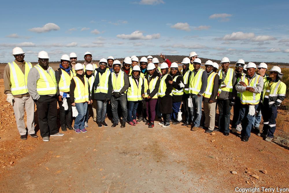 Newmont mining Boddington goldmine site visit, African mining delegation, Murdoch University