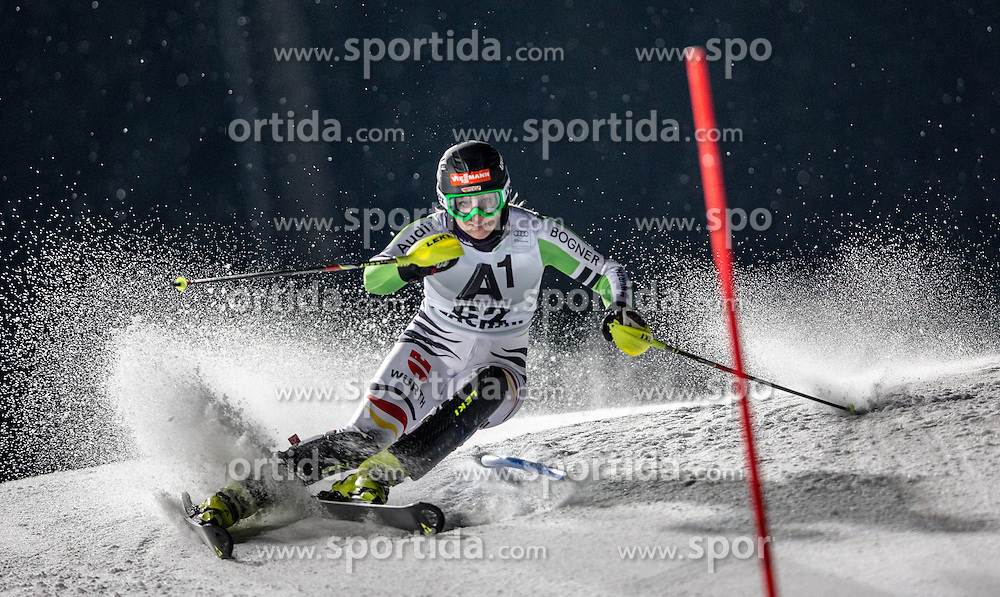14.01.2014, Hermann Maier Weltcupstrecke, Flachau, AUT, FIS Weltcup Ski Alpin, Slalom, Damen, 1. Durchgang, im Bild Madison Irwin (CAN) // Madison Irwin of Canada  in action during 1st run of the ladies Slalom of the FIS Ski Alpine World Cup at the Hermann Maier World Cup course in Flachau, Austria on 2014/01/14. EXPA Pictures © 2013, PhotoCredit: EXPA/ Johann Groder