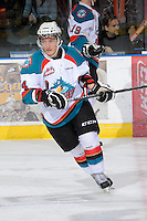 KELOWNA, CANADA, FEBRUARY 11: Cody Chikie #14 of the Kelowna Rockets skates on the ice as the Kamloops Blazers visit the Kelowna Rockets on February 11, 2012 at Prospera Place in Kelowna, British Columbia, Canada (Photo by Marissa Baecker/Shoot the Breeze) *** Local Caption ***
