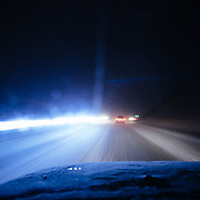 Driving to Jackson Hole Mountain Resort during a massive winter snow storm.