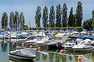 Unteruhldingen am Bodensee. Lac de Constance, Bade-Wurtemberg, Allemagne.
