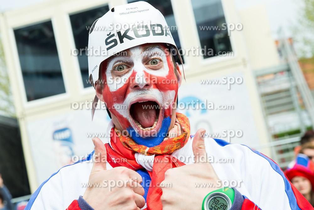 Fan of Slovakia in fan zone during Ice Hockey match between Slovakia and Denmark at Day 2 in Group B of 2015 IIHF World Championship, on May 2, 2015 in CEZ Arena, Ostrava, Czech Republic. Photo by Vid Ponikvar / Sportida