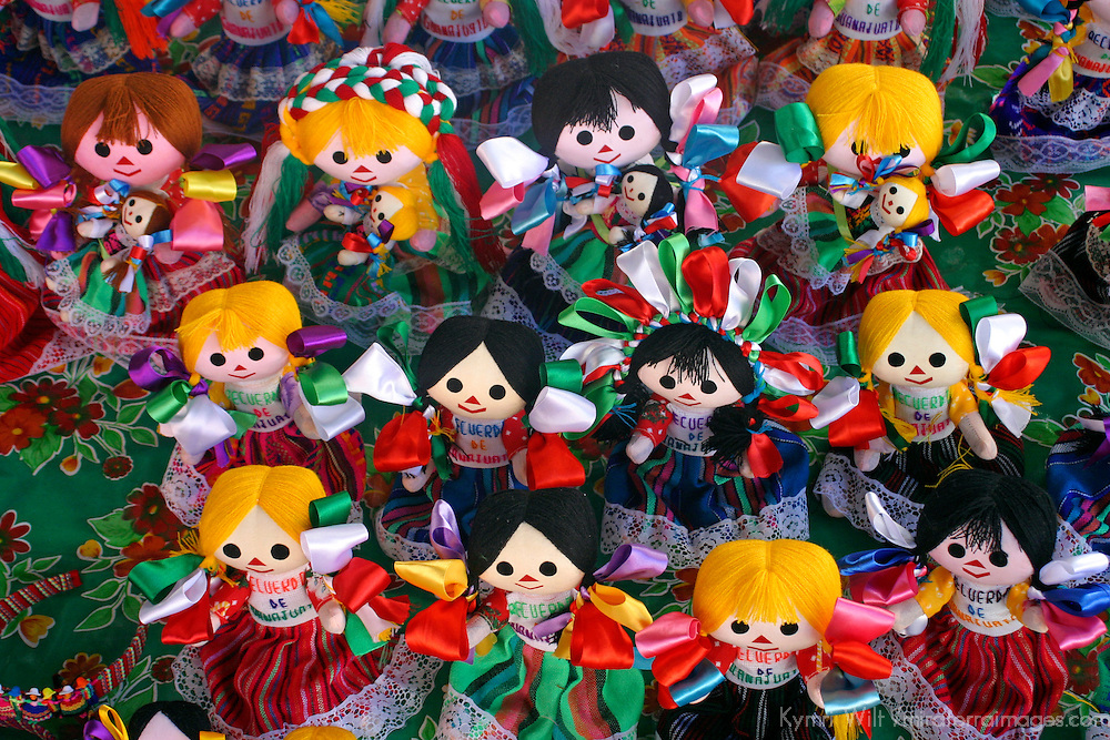 Americas, Mexico, Guanajuato. Handmade dolls dressed in traditional costumes of Guanajuato make for popular souvenirs.