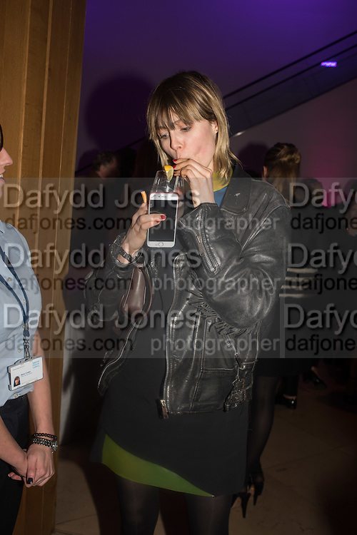 EDIE CAMPBELL, Vogue100 A Century of Style. Hosted by Alexandra Shulman and Leon Max. National Portrait Gallery. London. WC2. 9 February 2016.