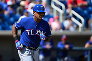 PHOENIX, AZ - MARCH 04:  Adrian Beltre #29 of the Texas Rangers is walked in the spring training game against the Milwaukee Brewers at Maryvale Baseball Park on March 4, 2017 in Phoenix, Arizona.  (Photo by Jennifer Stewart/Getty Images)
