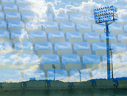 Reflection of San Marino Stadium  - Mandatory byline: Joe Meredith/JMP - 07966386802 - 05/09/2015 - FOOTBALL- INTERNATIONAL - San Marino Stadium - Serravalle - San Marino v England - UEFA EURO Qualifers Group Stage