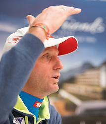 30.12.2014, Hotel for Friends, Mösern, AUT, FIS Ski Sprung Weltcup, 63. Vierschanzentournee, OeSV Pressekonferenz, im Bild Cheftrainer Heinz Kuttin (AUT) // Headcoach Heinz Kuttin of Austria during Pressconference of Austrian Team of the 63rd Four Hills Tournament of FIS Ski Jumping World Cup at the for Friends Hotel, Mösern, Austria on 2014/12/30. EXPA Pictures © 2014, PhotoCredit: EXPA/ JFK