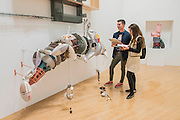 Installation by Helen Martin - Turner Prize exhibition, Tate Britain - the four shortlisted artists in 2016 are: Michael Dean, Anthea Hamilton, Helen Marten and Josephine Pryde. It is at Tate Britain from 27 September 2016 to 2 January 2017.