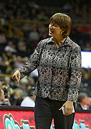 February 11 2013: Nebraska Cornhuskers head coach Connie Yori during the first half of the NCAA women's basketball game between the Nebraska Cornhuskers and the Iowa Hawkeyes at Carver-Hawkeye Arena in Iowa City, Iowa on Monday, February 11 2013.