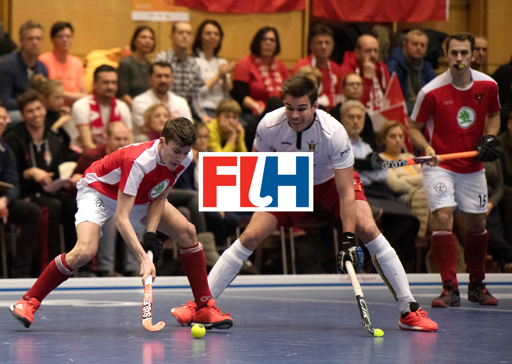 BERLIN - Indoor Hockey World Cup<br /> Austria - Belgium<br /> foto: UNTERKIRCHER Fabian<br /> WORLDSPORTPICS COPYRIGHT FRANK UIJLENBROEK