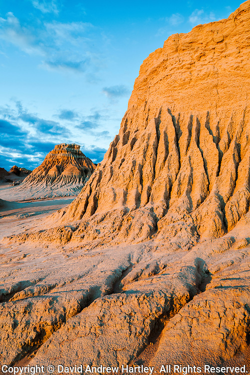Eroded sand formations, Mungo National Park, New South Wales, Australia