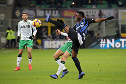 January 19, 2019 - Milan, Milan, Italy - Kwadwo Asamoah #18 of FC Internazionale Milano in action during the serie A match between FC Internazionale and US Sassuolo at Stadio Giuseppe Meazza on January 19, 2019 in Milan, Italy. (Credit Image: © Giuseppe Cottini/NurPhoto via ZUMA Press)