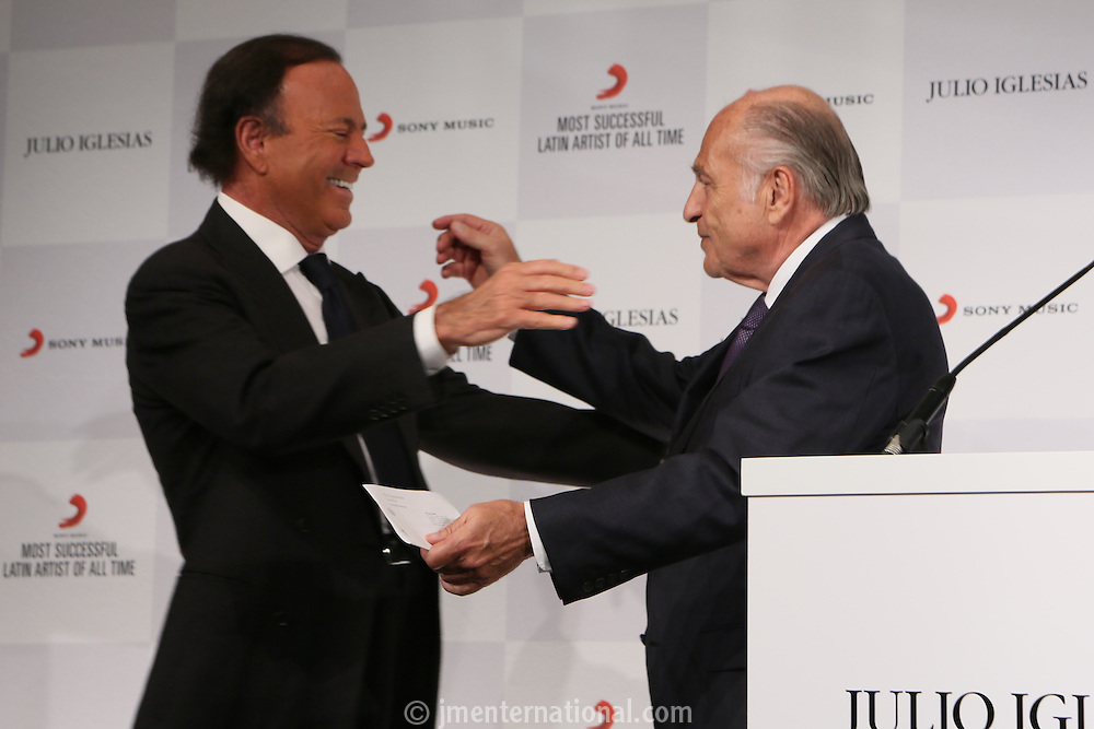 """Julio Iglesias """"The Most Successful Latin Artist Of All Time Award""""<br /> Presented at the Dorchester Hotel.<br /> Monday,  May 12th, 2014 (Photo/John Marshall JM Enternational)"""