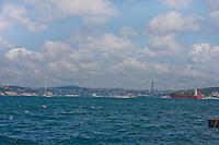 Bosphorus bridge over the bosphorus strait
