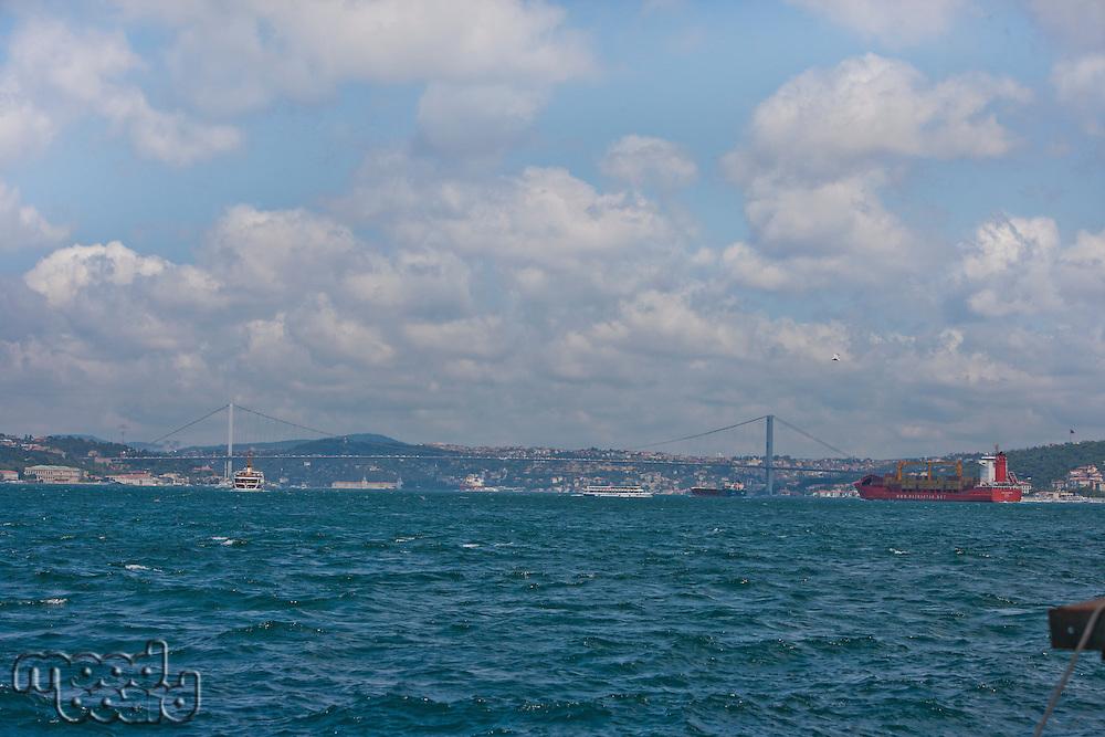Bosphorus bridge over the bosphorus strait